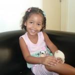 Ewelyn Cabral recebeu polegar na 21ª Missão Humanitária