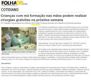 SOS MÃO - FOLHA.COM - 14.08
