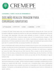 SOS Mão - CREMEPE - 20.08